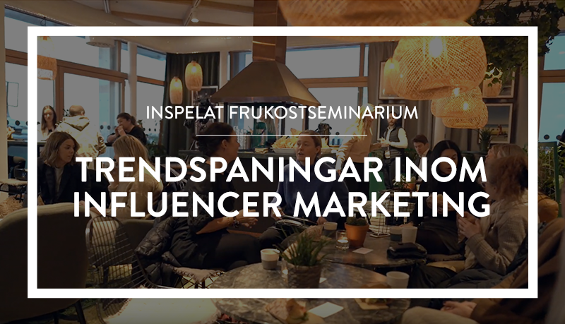 Webinar: Trendspaningar inom Influencer Marketing