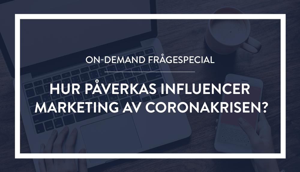 Influencer Marketing during Coronavirus webinar