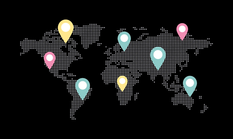 Global influencer marketing world map