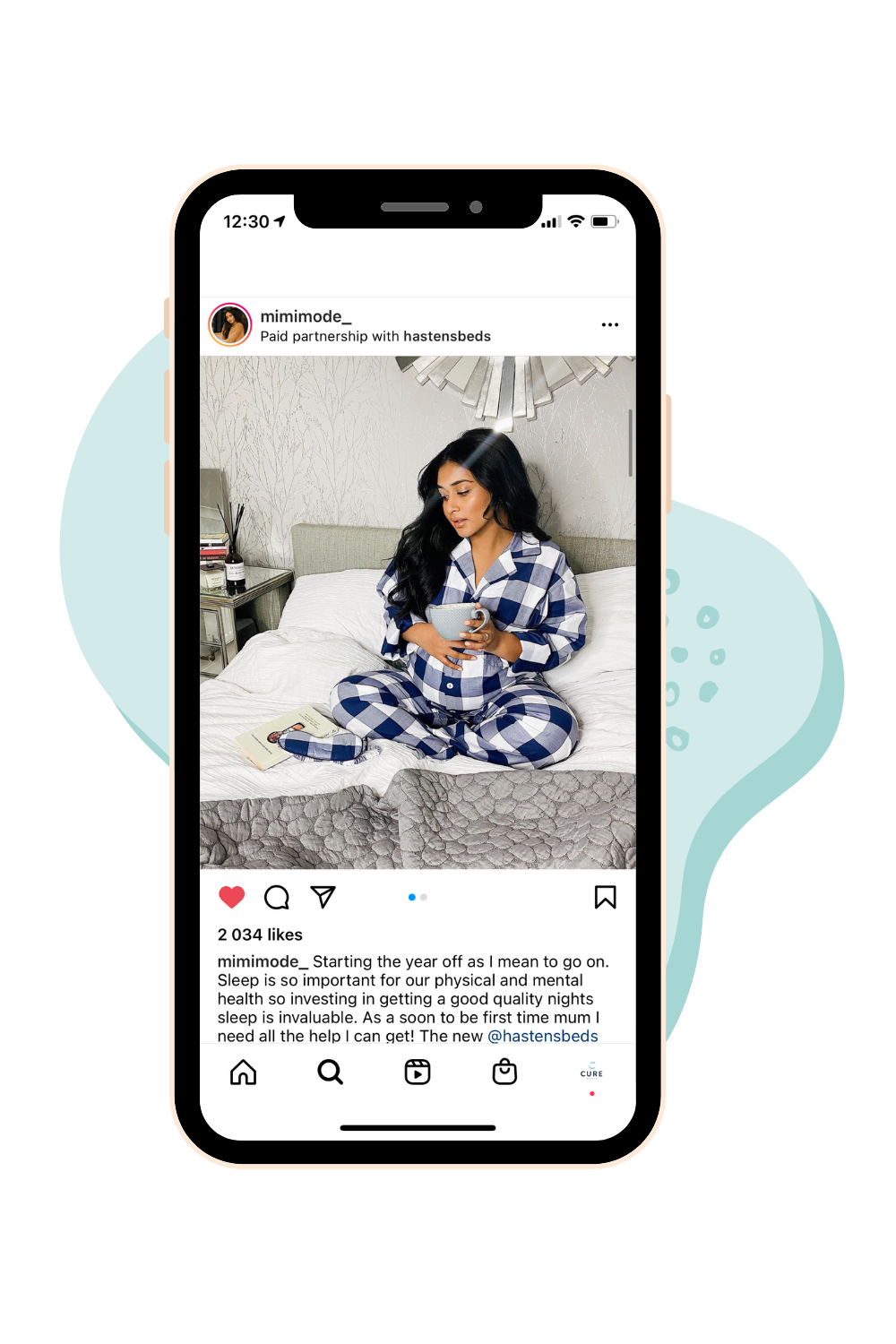 Influencer collaboration for Hastens beds